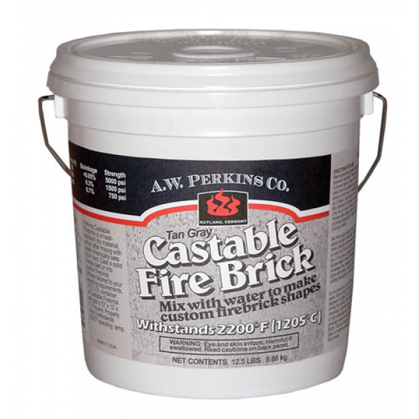 High Heat Mortar Mix : Castable fire brick refractory cement