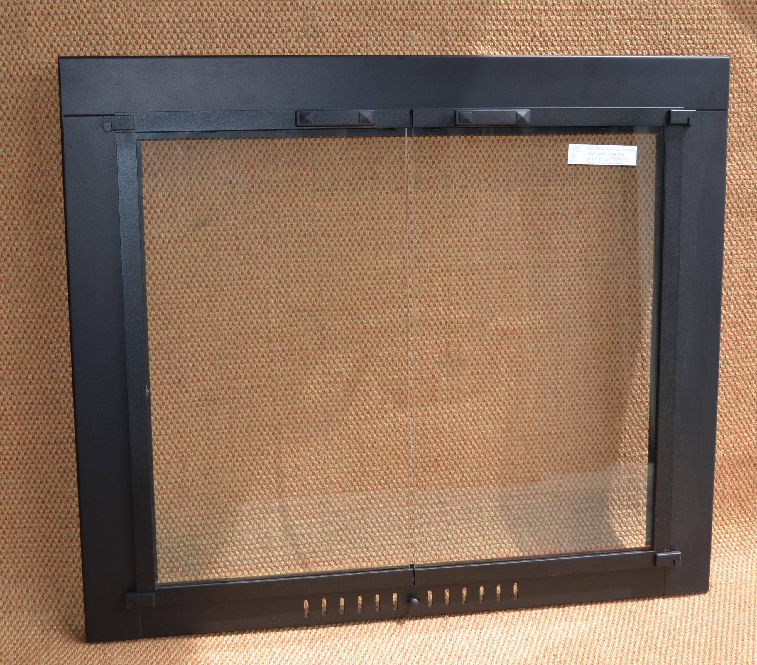 3631 pioneer fireplace door in matte black finish