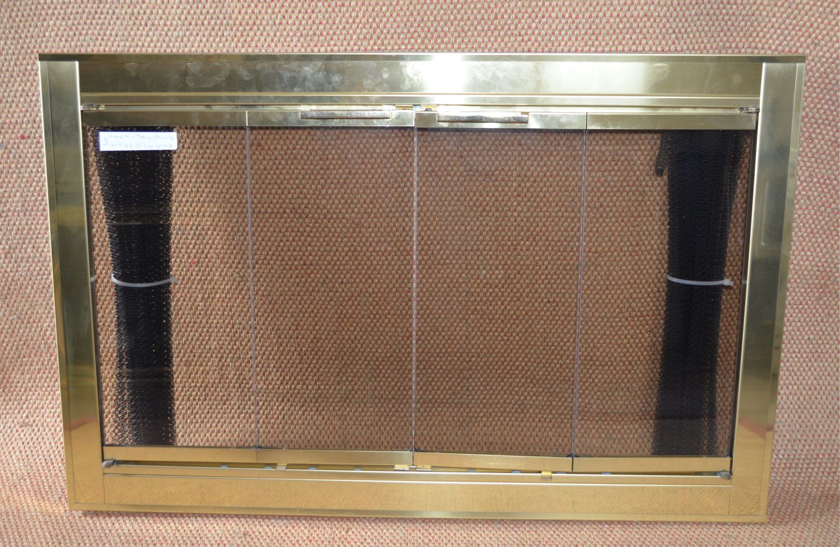 3724 Optima Fireplace Door In Polished Brass Finish