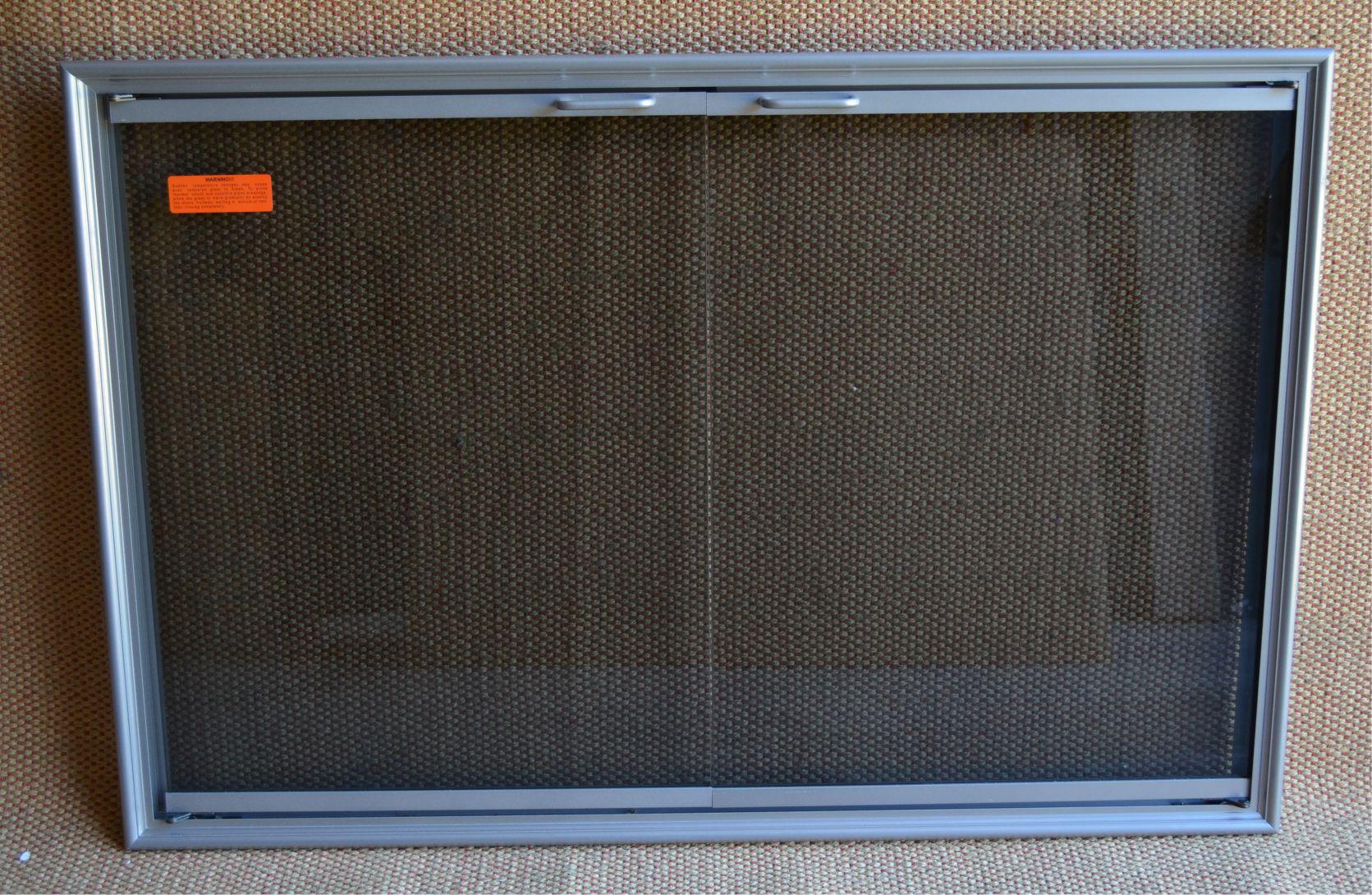 Silver Fireplace Doors : Shadow masonry fireplace door in silver