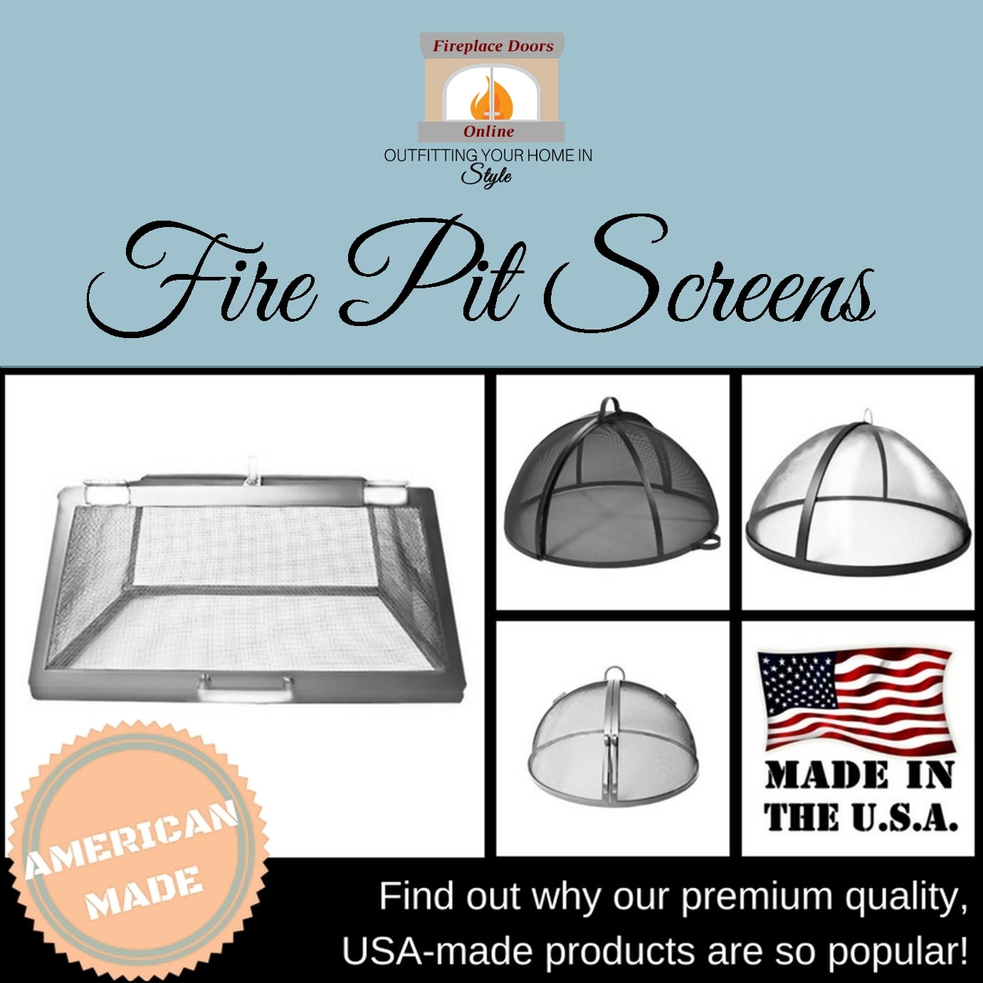 Highlight Of The Week Usa Made Outdoor Fire Pit Screens