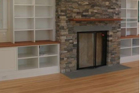 Silhouette Fireplace Door With Cabinet Doors
