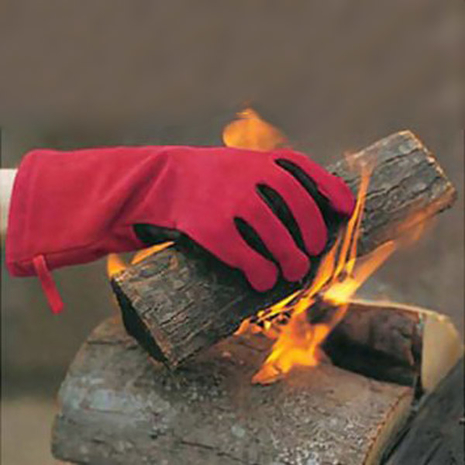 FlameX fireplace and wood stove gloves.