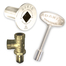 Satin nickel gas valve kit