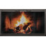 Thinline fireplace door in matte black by Thermo-Rite