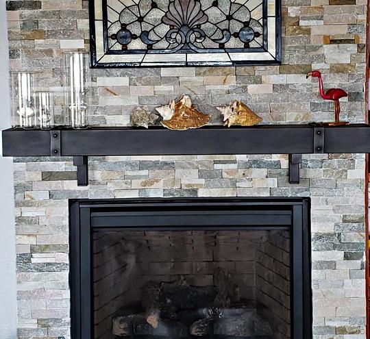 Chesapeake Steel Fireplace Mantel