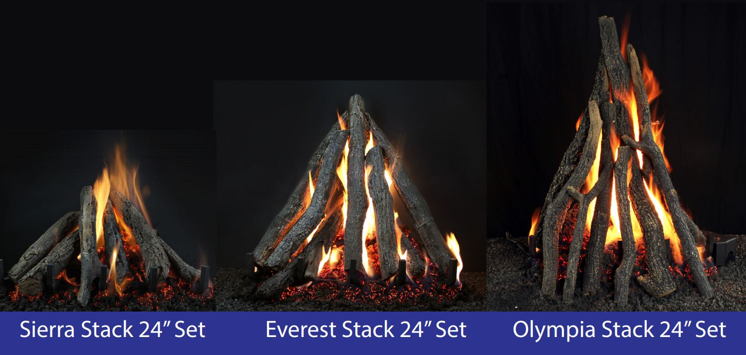 Campfire Style Vented Log Sets