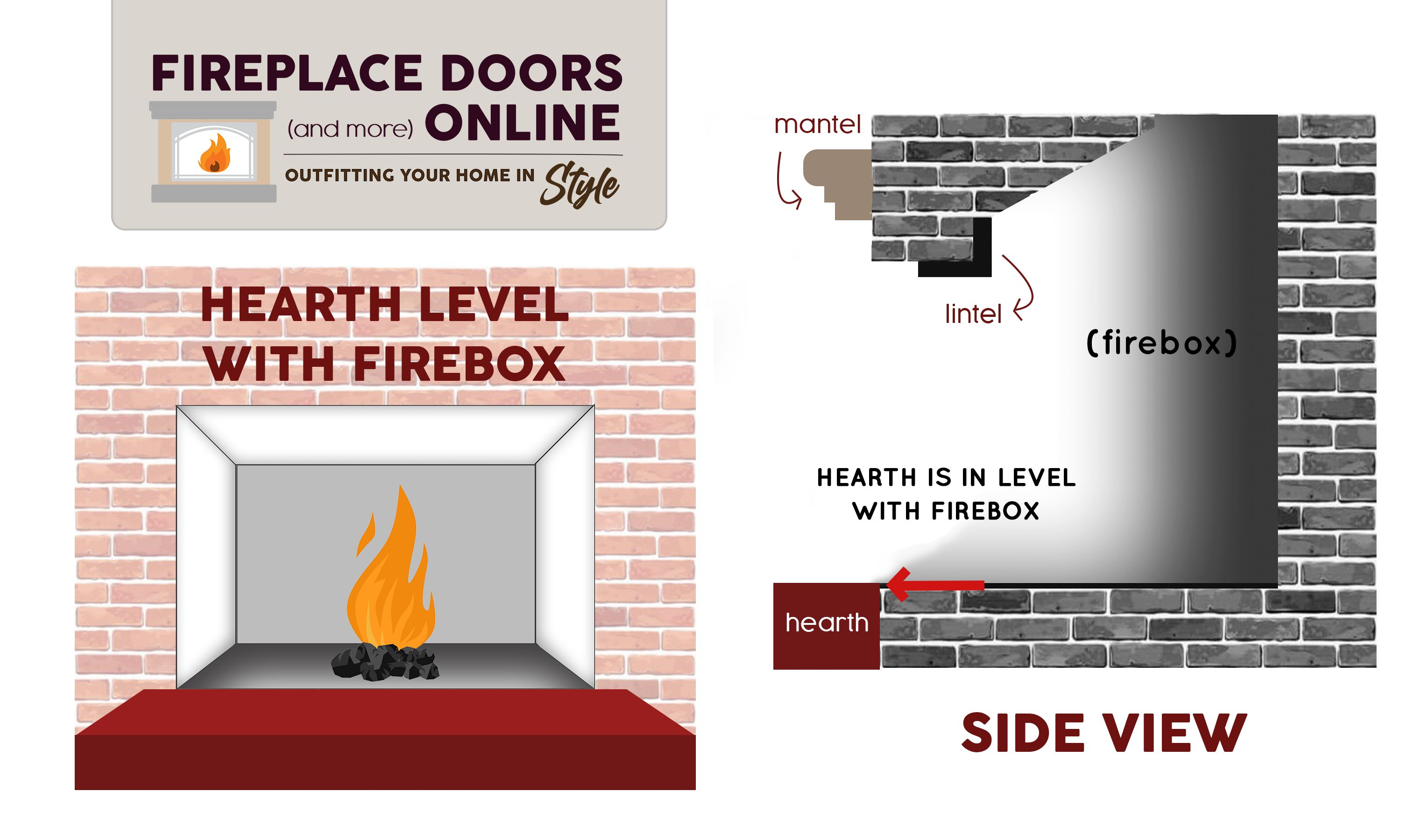 Hearth Level with Firebox