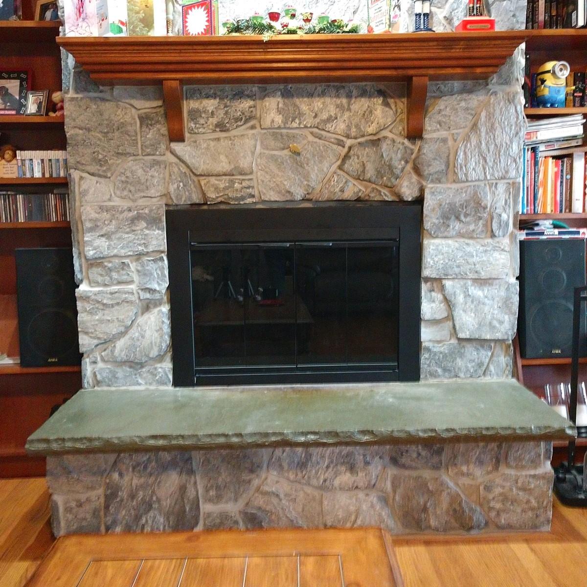 Masonry Fireplace with Mantel
