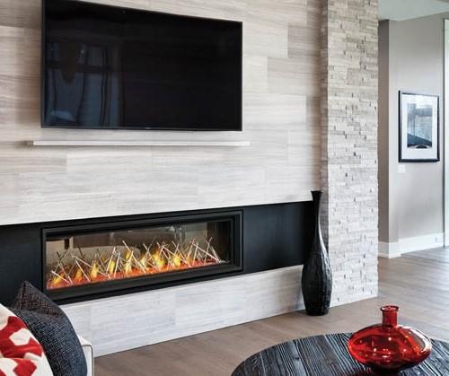 Napoleon Luxuria Linear Fireplace w/ Fire Pit Art