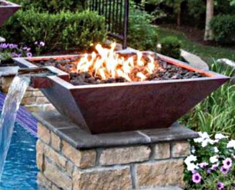 copper fire bowl