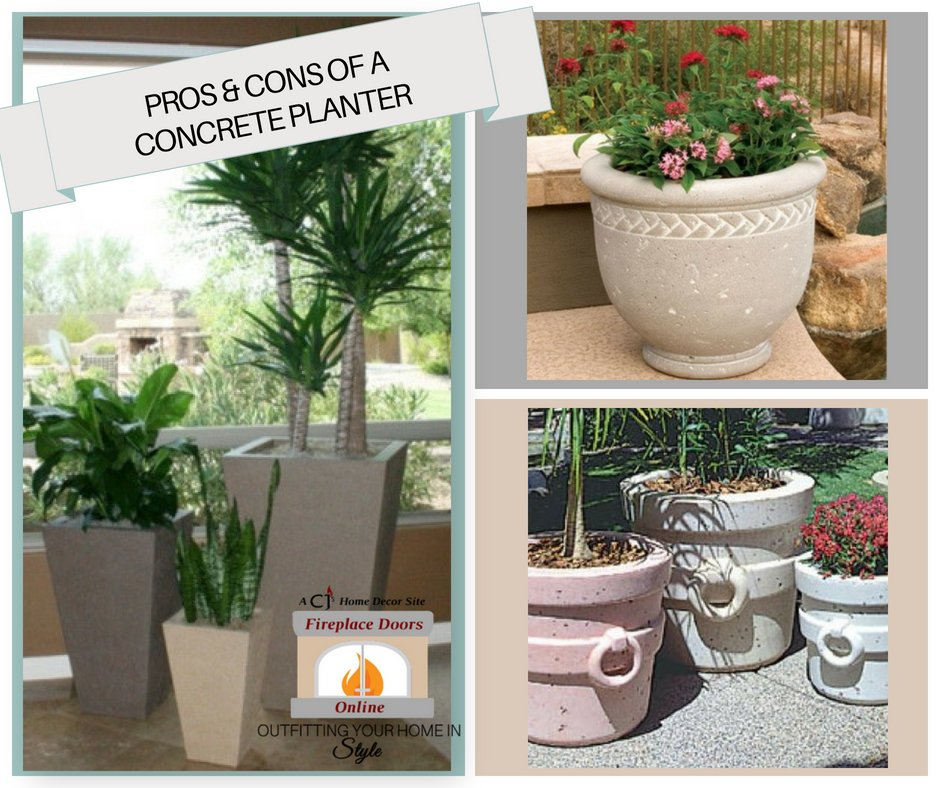 Pros & Cons Of A Concrete Planter
