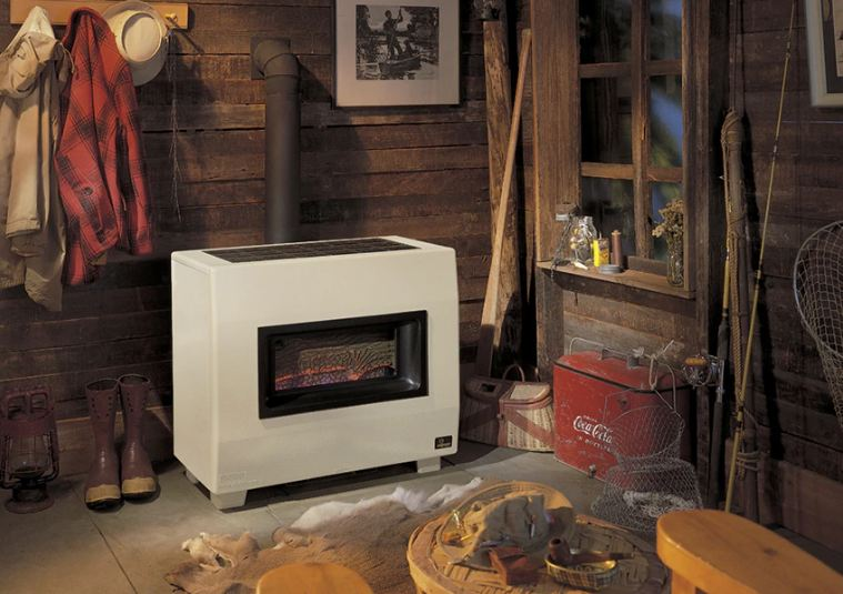 B Vent Visual Flame Propane Heater