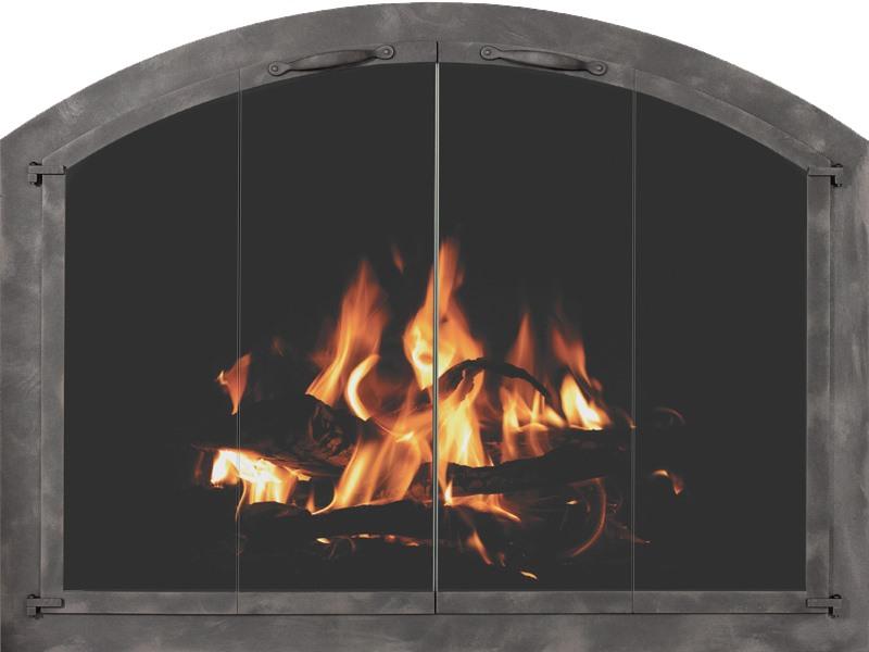 Cascade Arched Masonry Fireplace Door