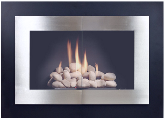 Saratoga Modern Masonry Fireplace Door