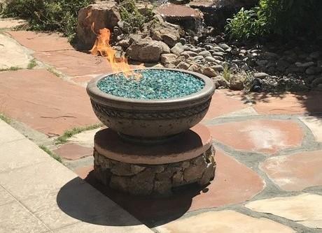 Napoli Precast Concrete Fire Bowl