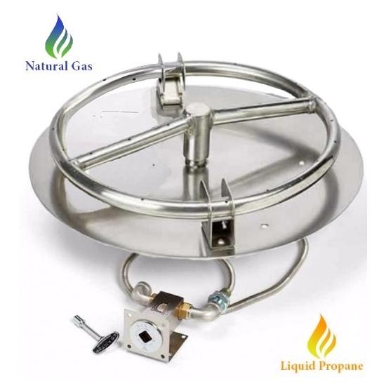 "HPC 8"" Match Lit Round Burner and Pan"