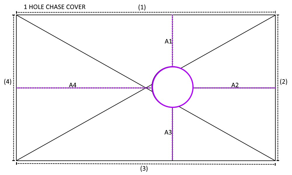 1 Hole Chase Cover Diagram