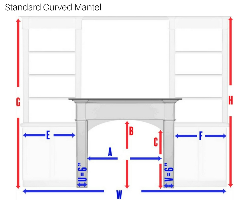 Standard Curved Mantel