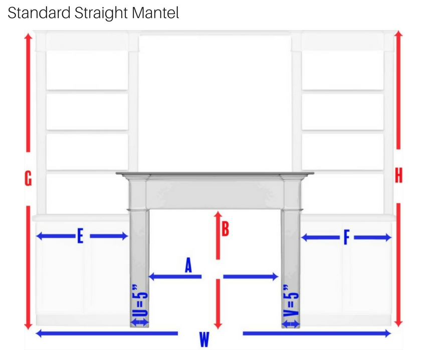 Standard Straight Mantel