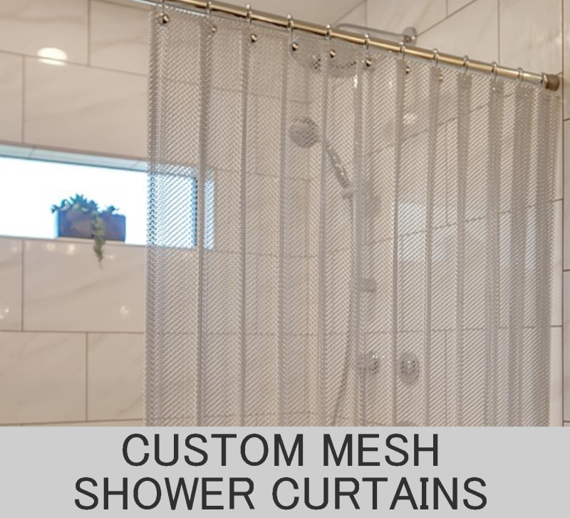 Custom Mesh Shower Curtains