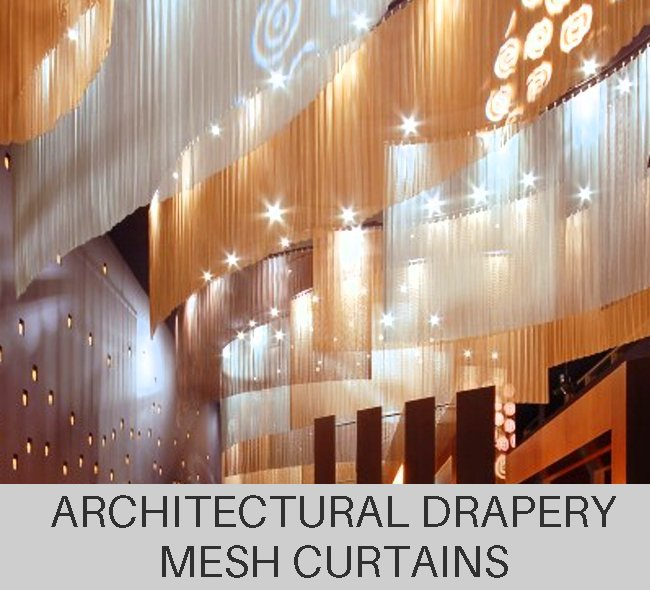 Custom Architectural Drapery Mesh Curtains