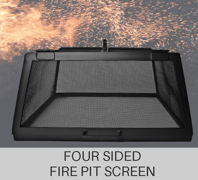 Custom Four Sided Fire Pit Screen