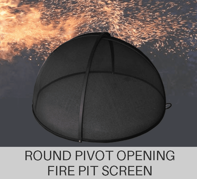 Custom size round pivot fire pit screen quote form