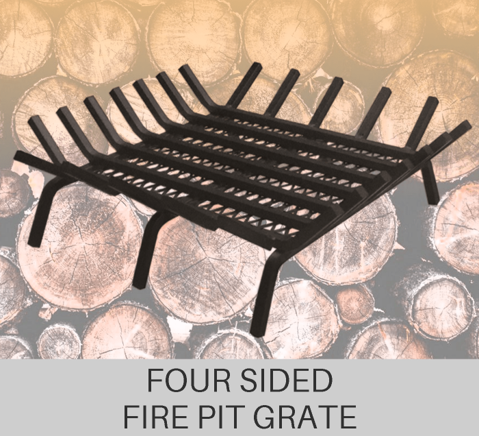 Custom Four Sided Fire Pit Grate