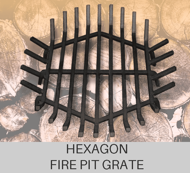 Custom Hexagon Fire Pit Grate