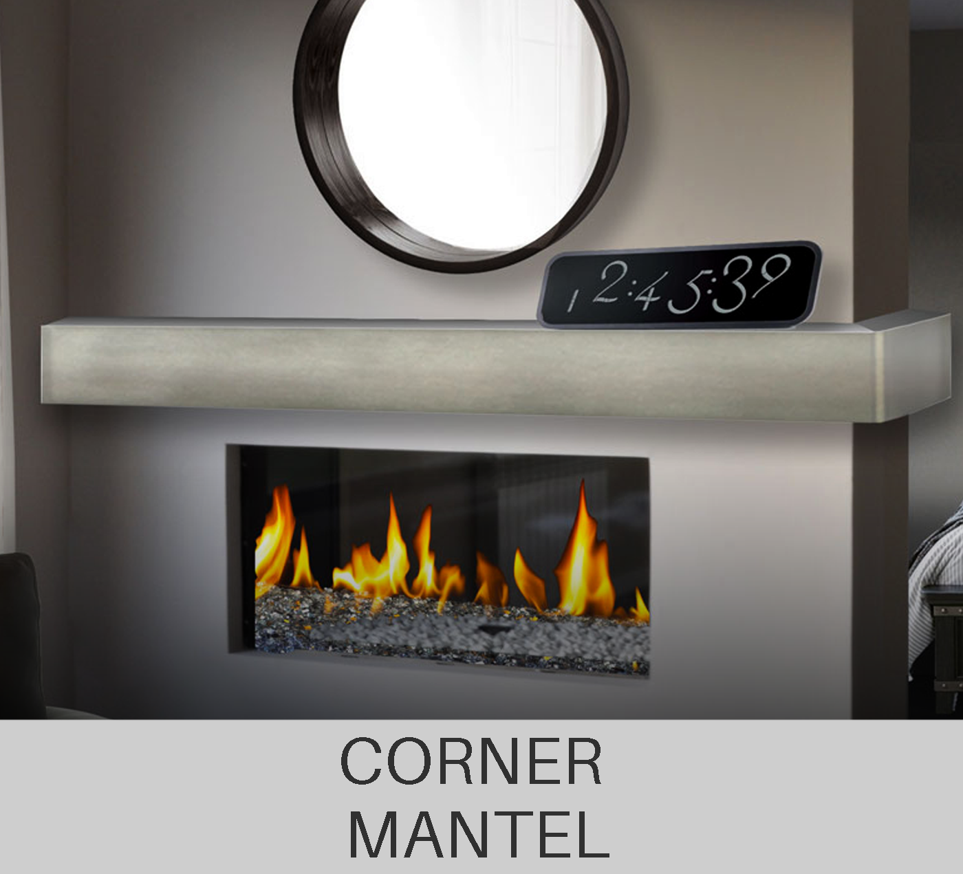 Custom Corner Mantel