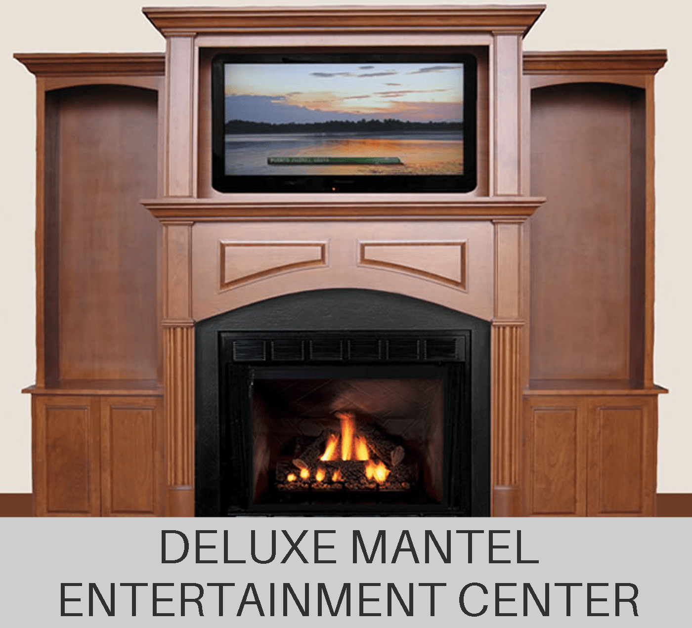 Custom Fireplace Mantel Entertainment Center