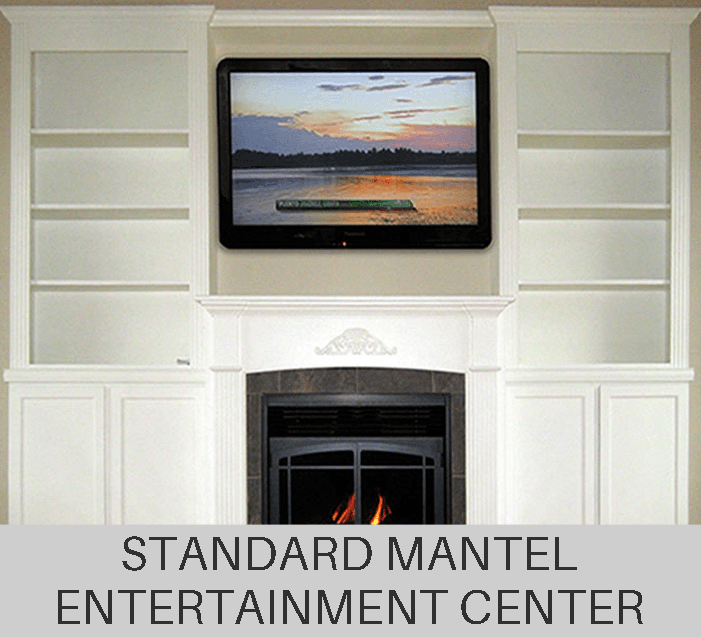 Custom Standard Fireplace Mantel Entertainment Center
