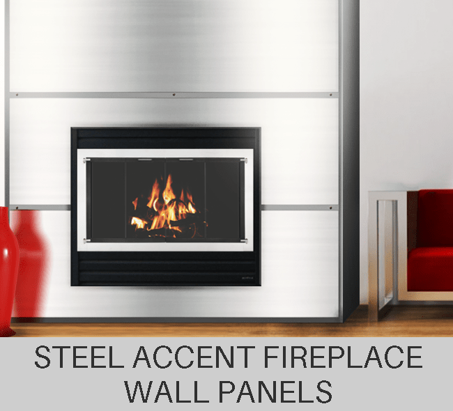 Custom made Fireplace Metal Wall Panels
