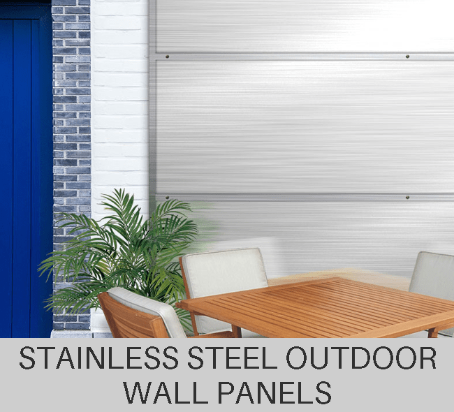 Custom Stainless Steel Outdoor Metal Wall Panels
