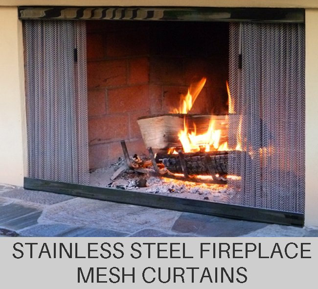 Custom Stainless Steel Fireplace Mesh Curtains