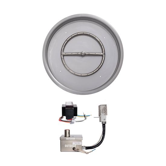 """Outdoor Plus 13"""" Electronic Ignition Round Drop in Pan"""