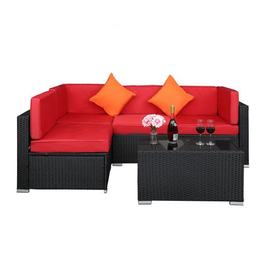 Outdoor Rattan Patio Sectional