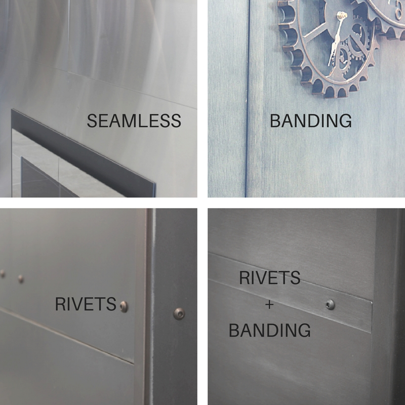 Decorative options for stainless steel wall panels