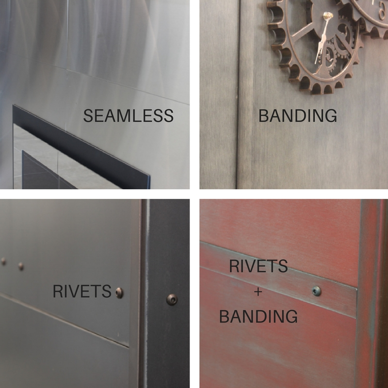 Decorative options for steel wall panels