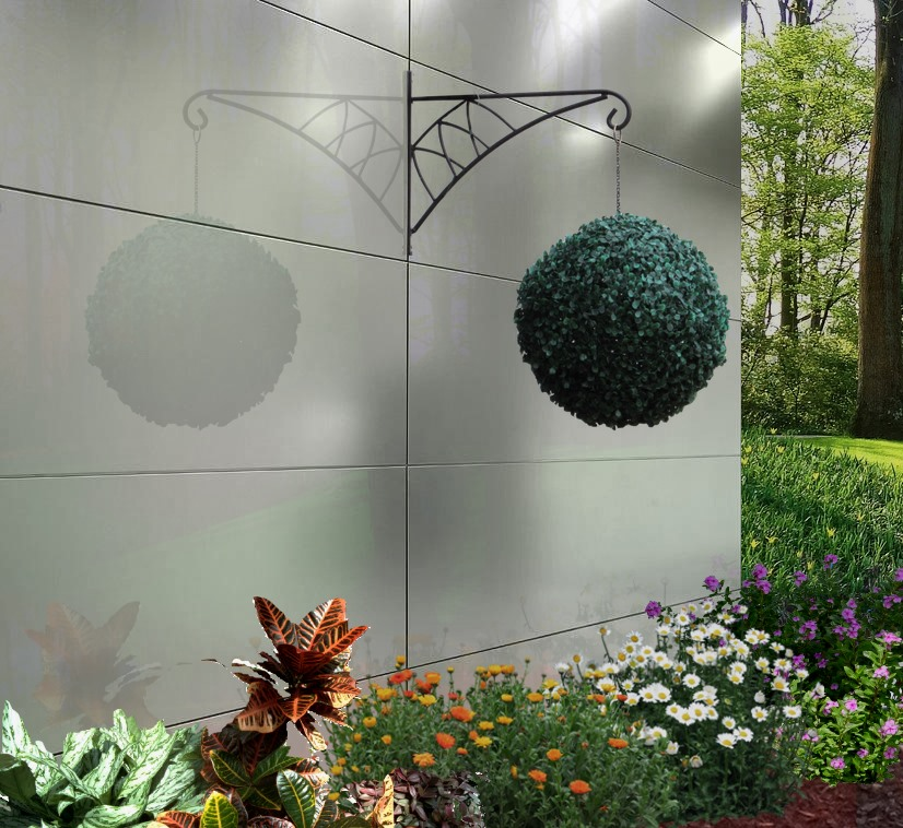 Outdoor stainless steel wall panels