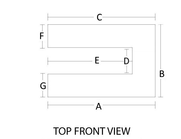 Click on the link to see the diagram for measuring your u-shaped mantel for your peninsula fireplace.
