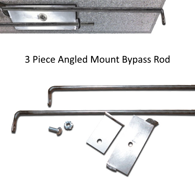 3 piece angled mount bypass rod
