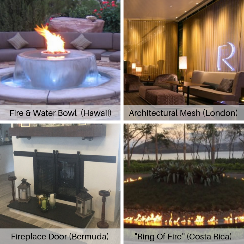 International projects by Fireplace Doors Online