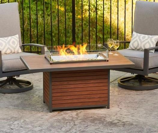 Kenwood Rectangular Fire Pit Dining Table