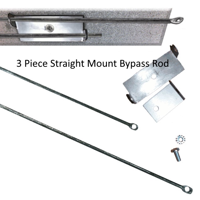 3 piece straight mount bypass rod
