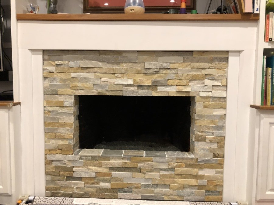 Zero clearance fireplace with no hearth for 4 sided overlap fit fireplace door