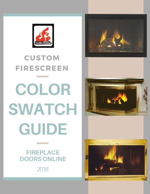 Custom Firescreen, Inc. color swatch guide for fireplace doors flipbook