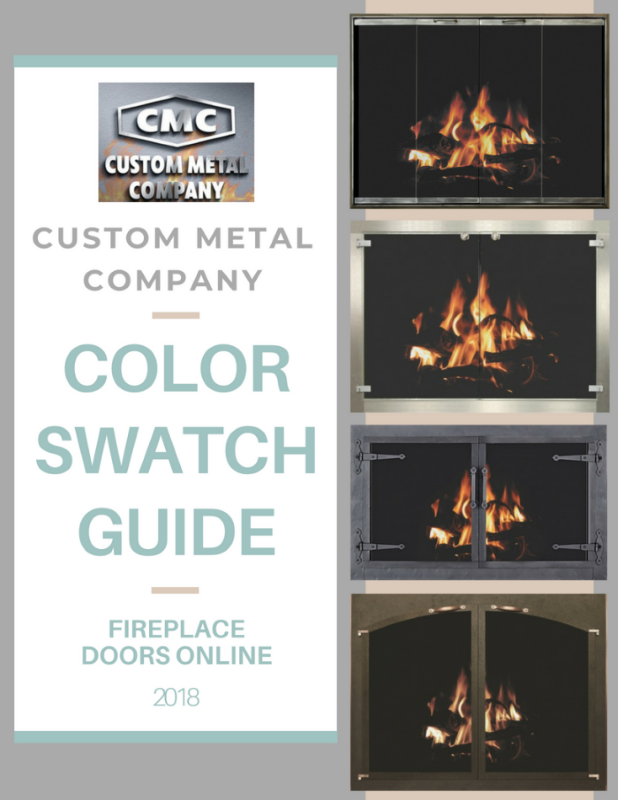 Custom Metal Company by Stoll Color Swatch guide for fireplace doors and products flipbook