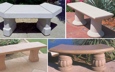 Outdoor benches for apartment buildings